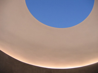 venetian plaster sky at James Turrell Sky-Spaces